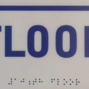 Braille with Floor Signs